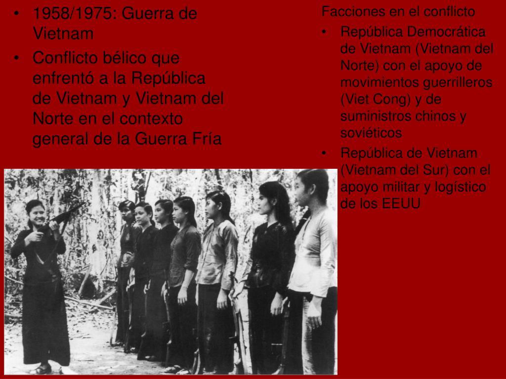 1958/1975: Guerra de Vietnam