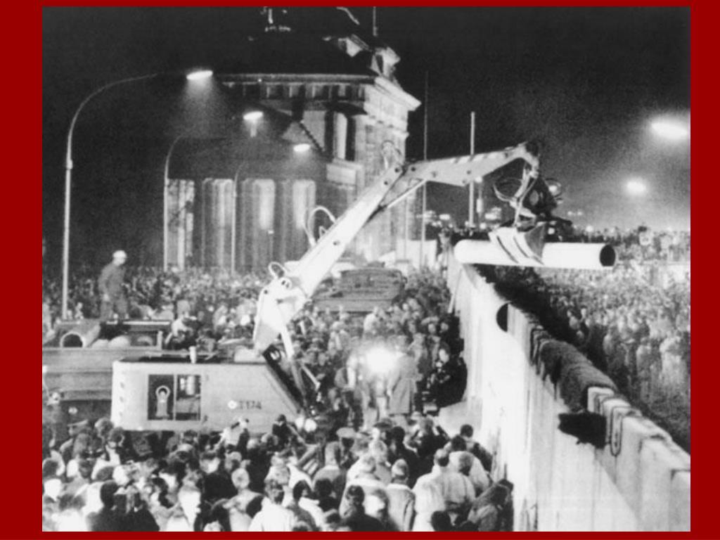 1989: caída del Muro de Berlín