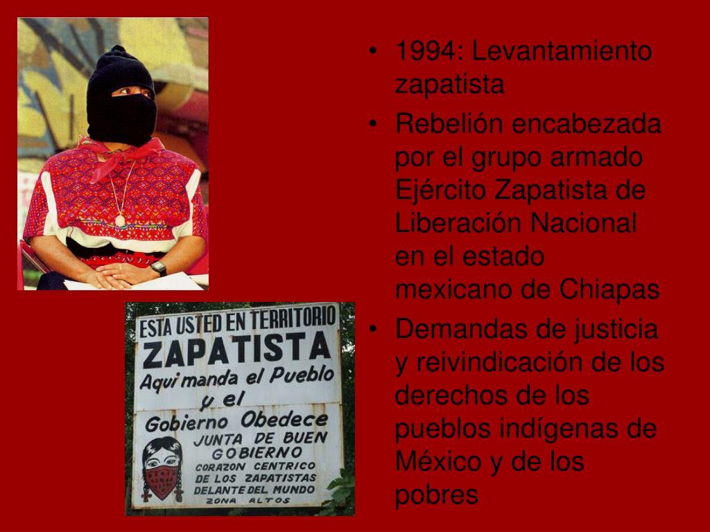 1994: Levantamiento zapatista