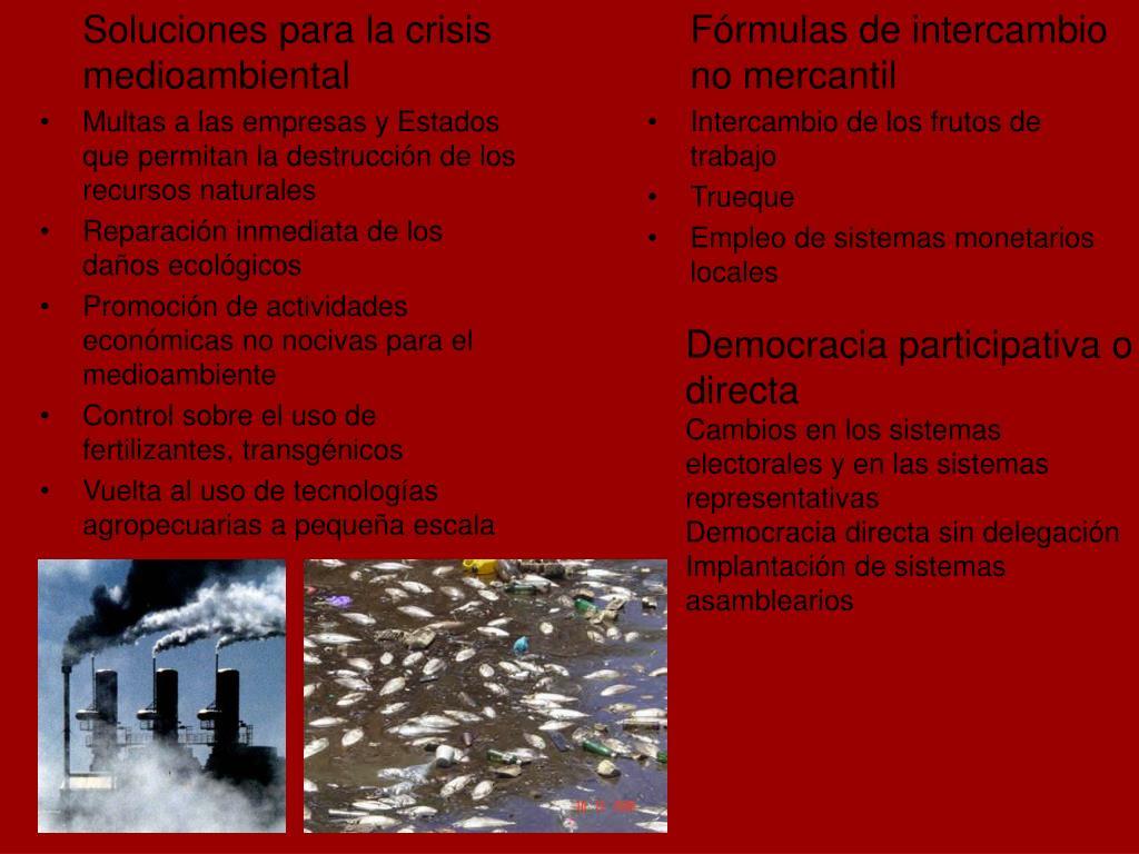 Soluciones para la crisis medioambiental