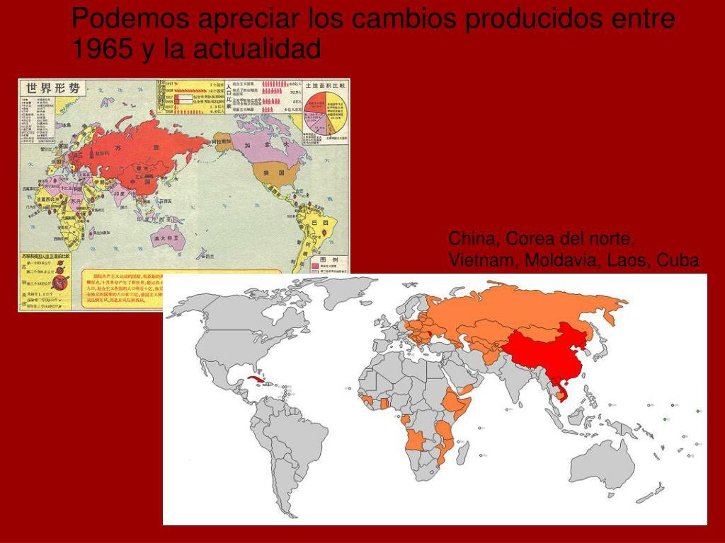 China, Corea del norte, Vietnam, Moldavia, Laos, Cuba