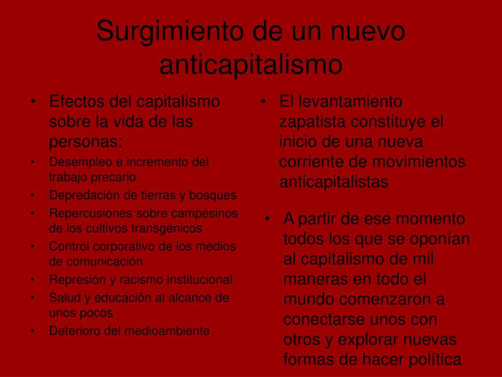 Surgimiento de un nuevo anticapitalismo