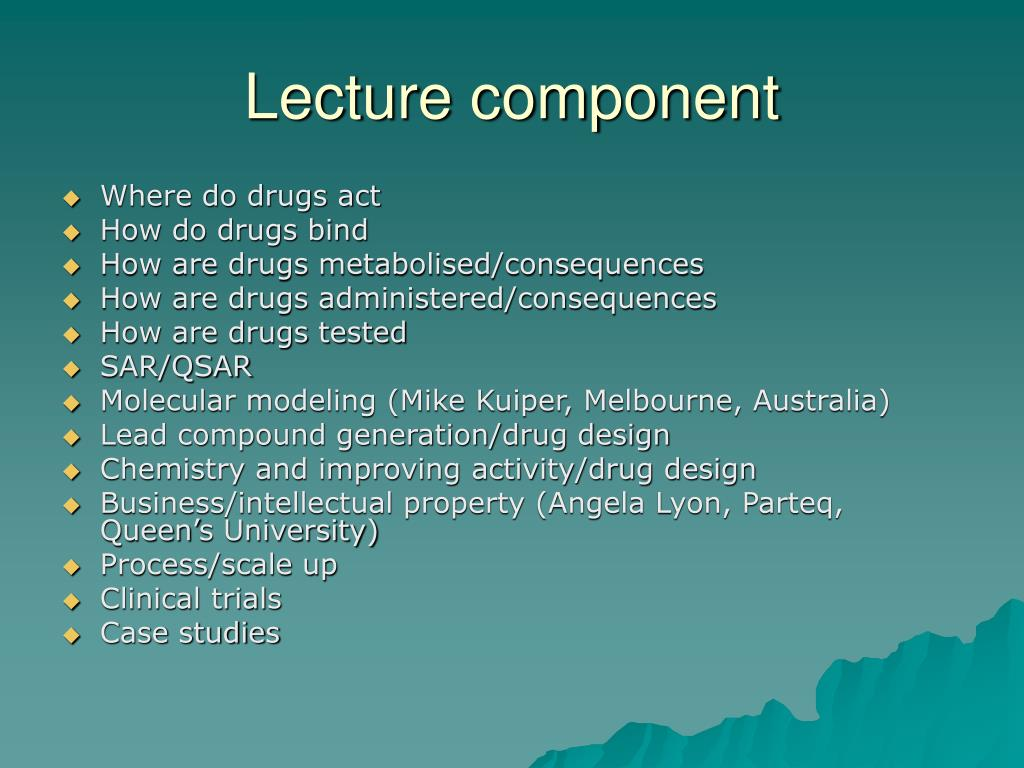 Lecture component