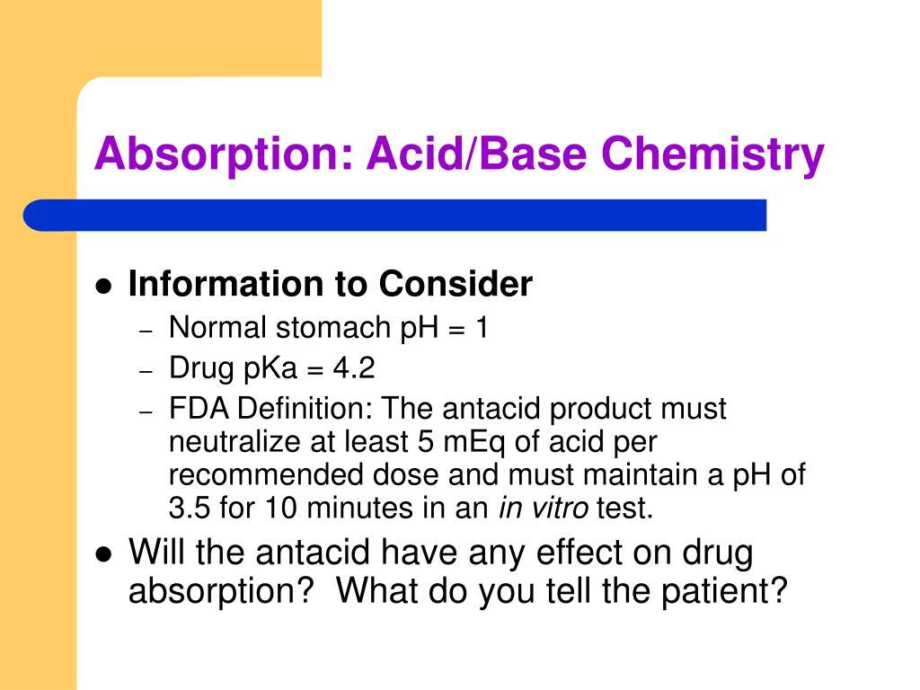 Absorption: Acid/Base Chemistry