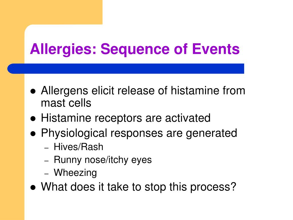 Allergies: Sequence of Events