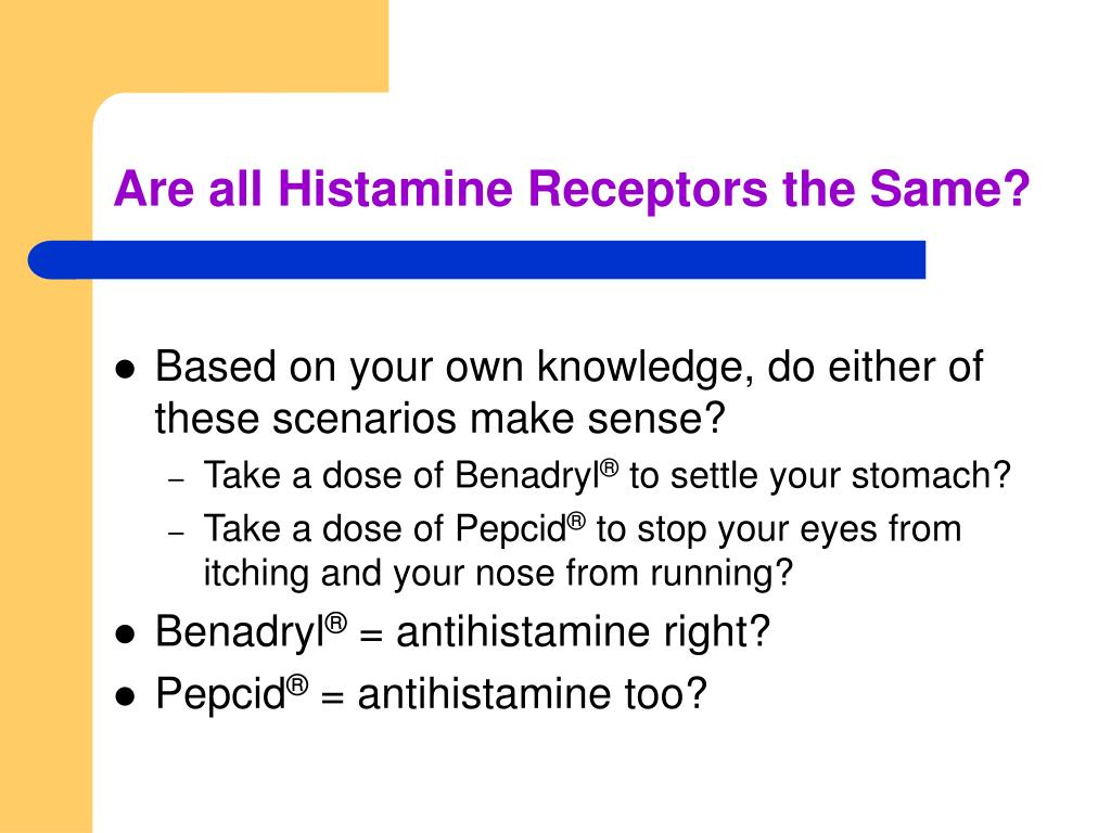 Are all Histamine Receptors the Same?