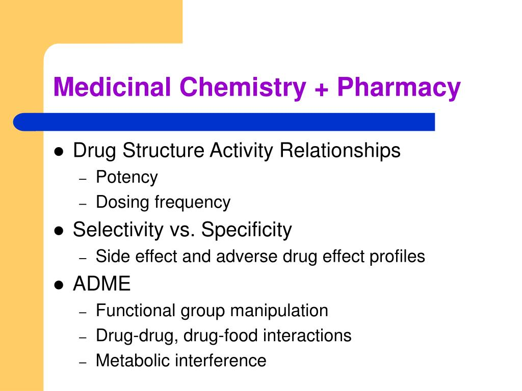 Medicinal Chemistry + Pharmacy
