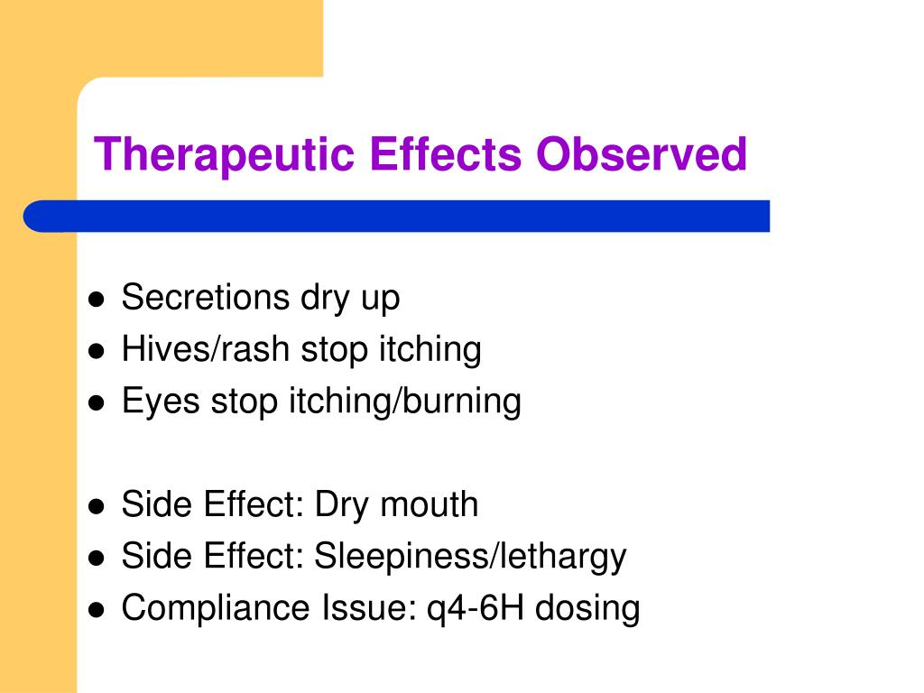 Therapeutic Effects Observed