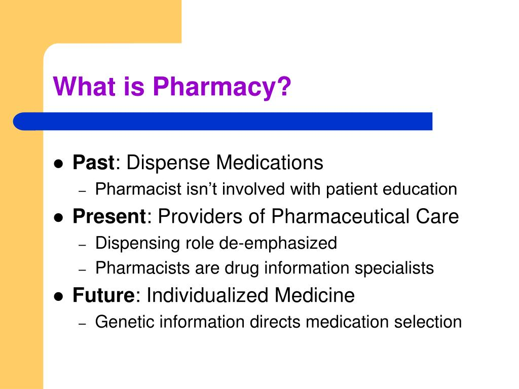 What is Pharmacy?