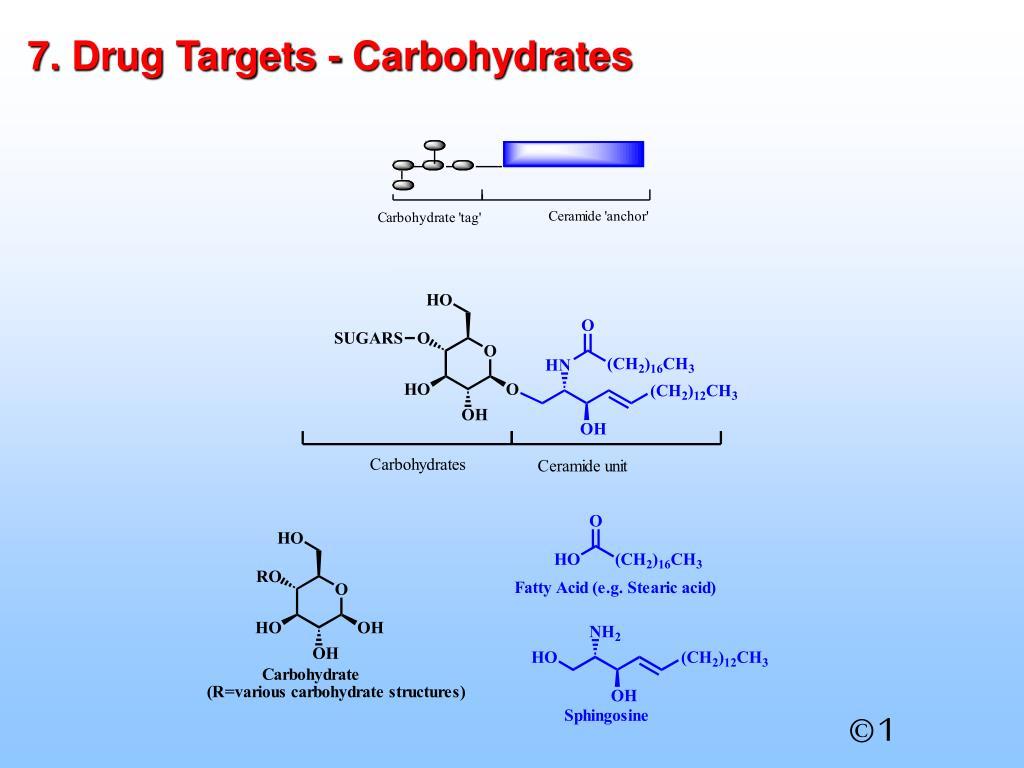 7. Drug Targets - Carbohydrates