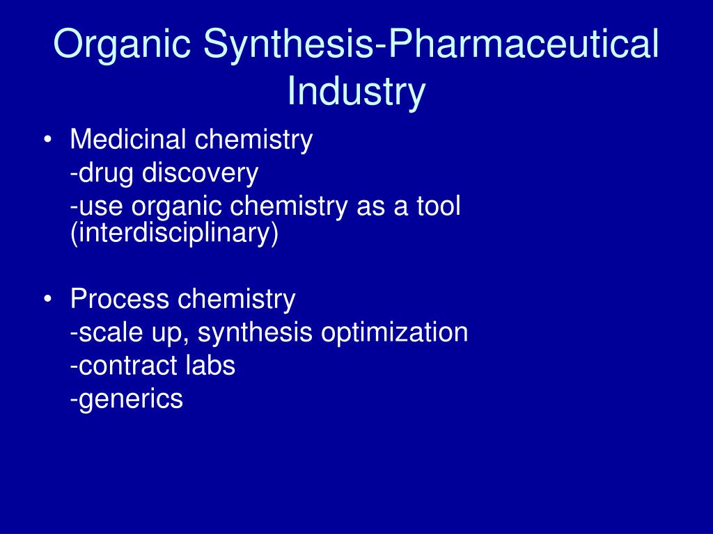 Organic Synthesis-Pharmaceutical Industry