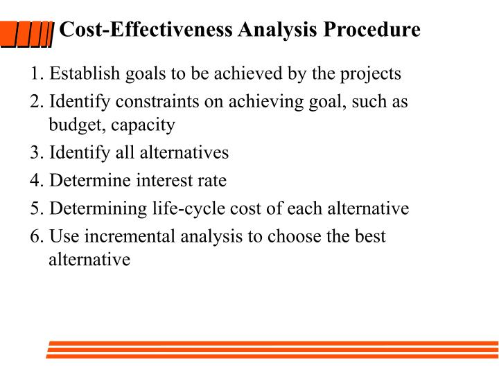Cost-Effectiveness Analysis Procedure