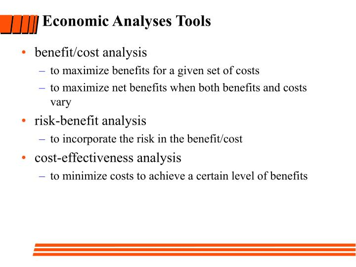 Economic Analyses Tools