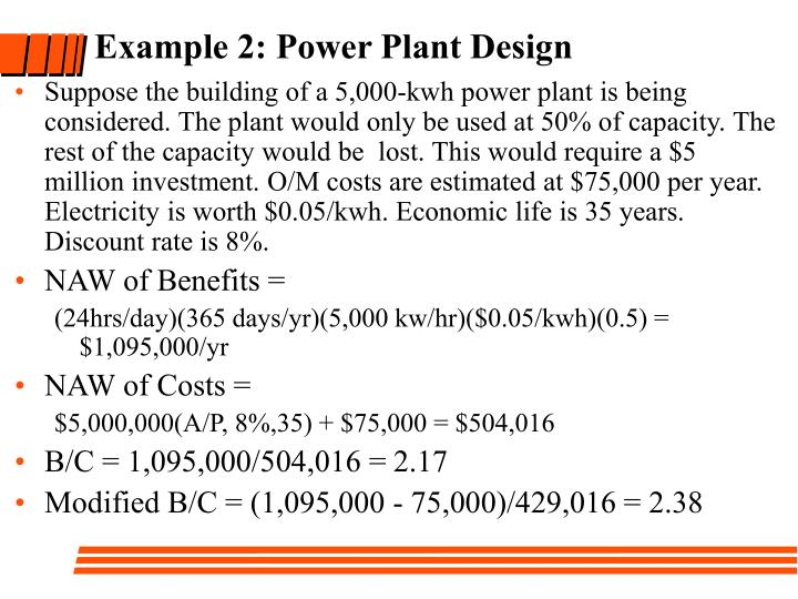Example 2: Power Plant Design