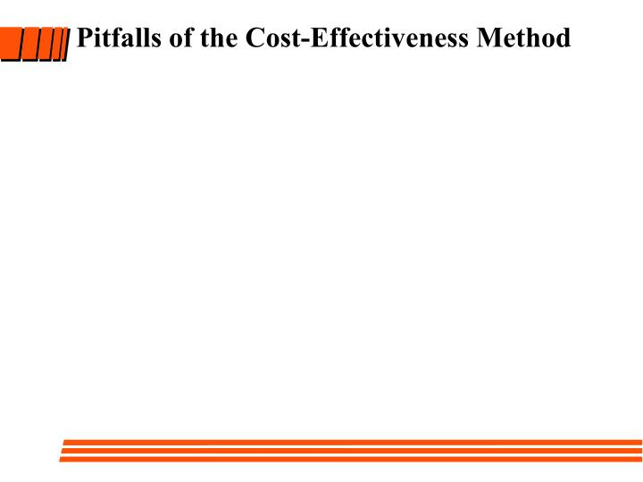 Pitfalls of the Cost-Effectiveness Method