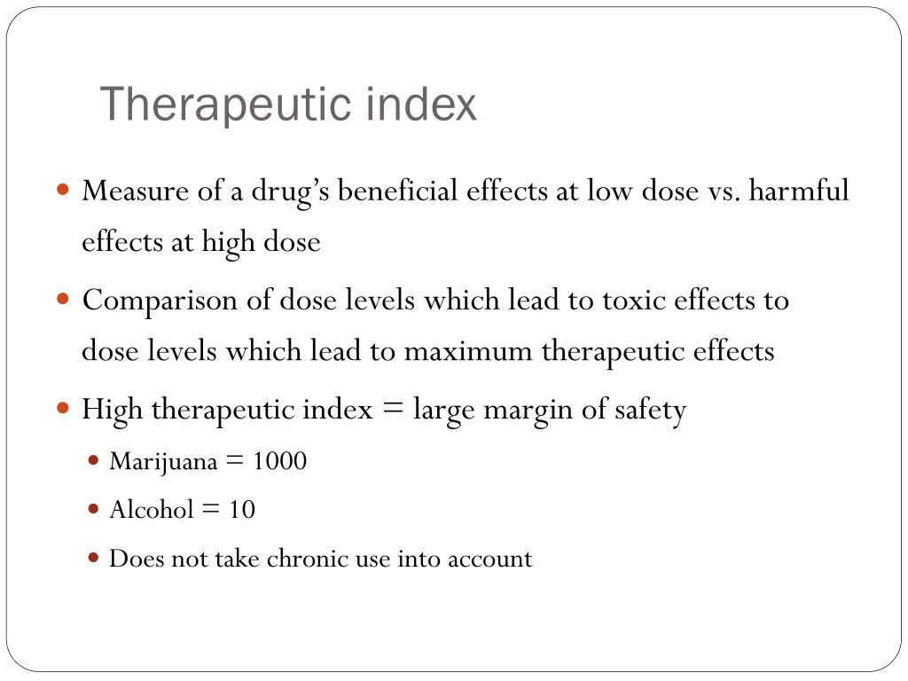 Therapeutic index