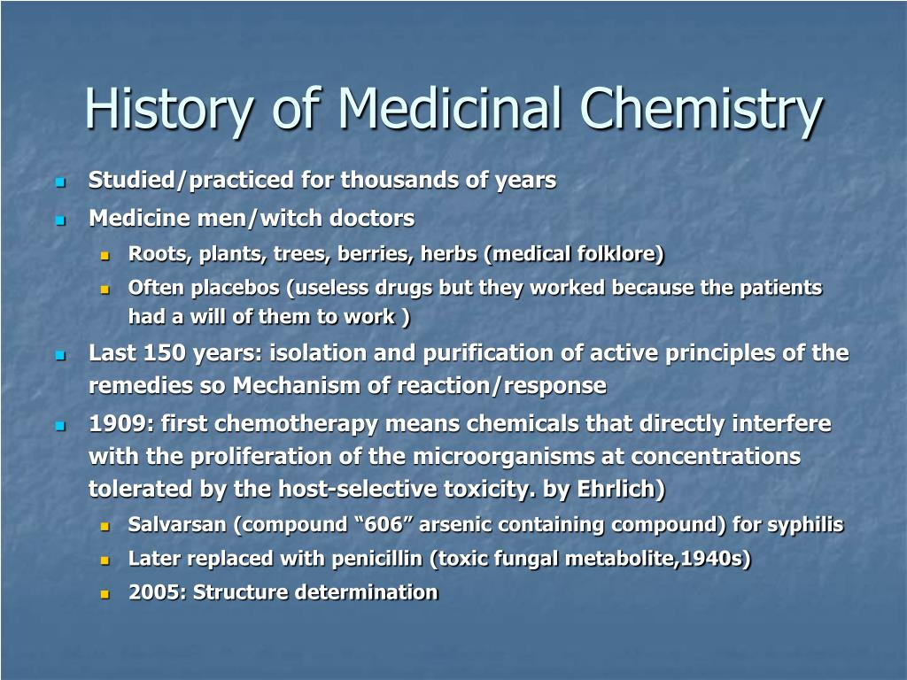 History of Medicinal Chemistry
