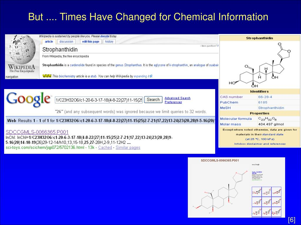 But .... Times Have Changed for Chemical Information