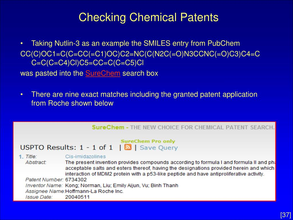 Checking Chemical Patents