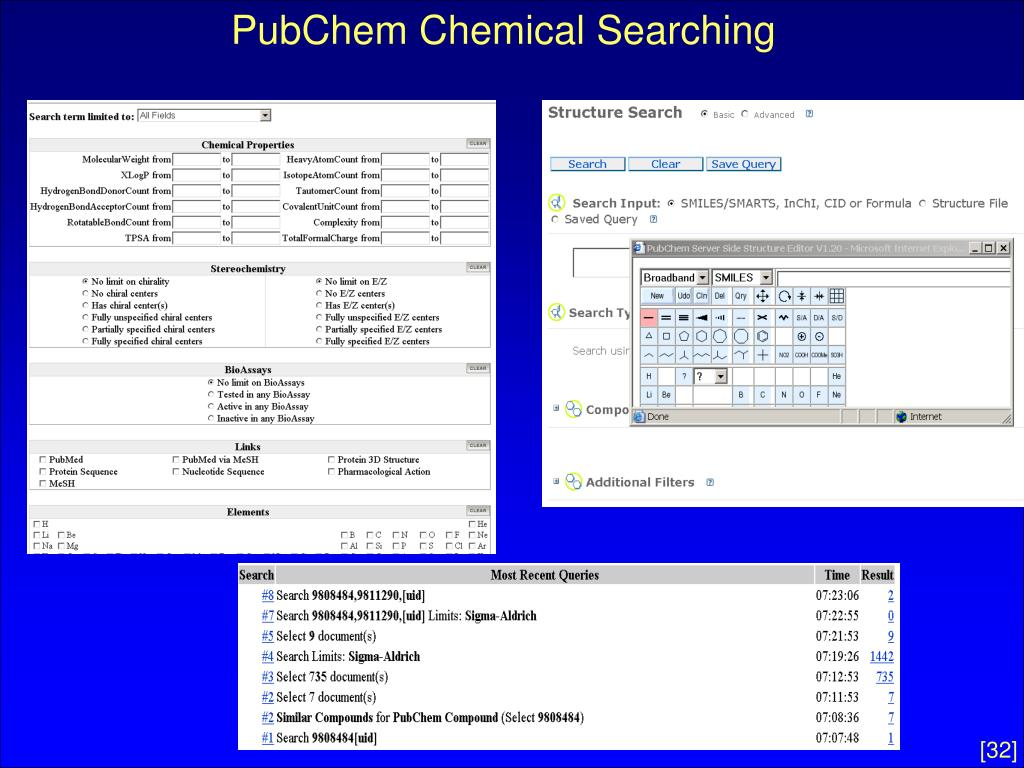 PubChem Chemical Searching