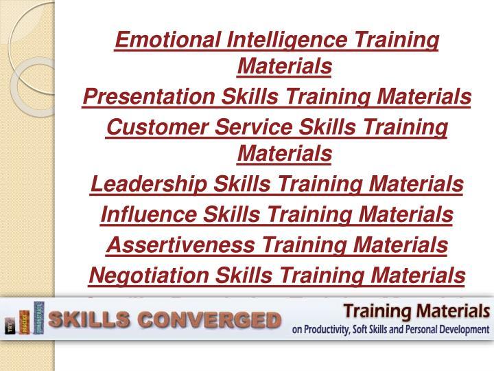 Emotional Intelligence Training Materials