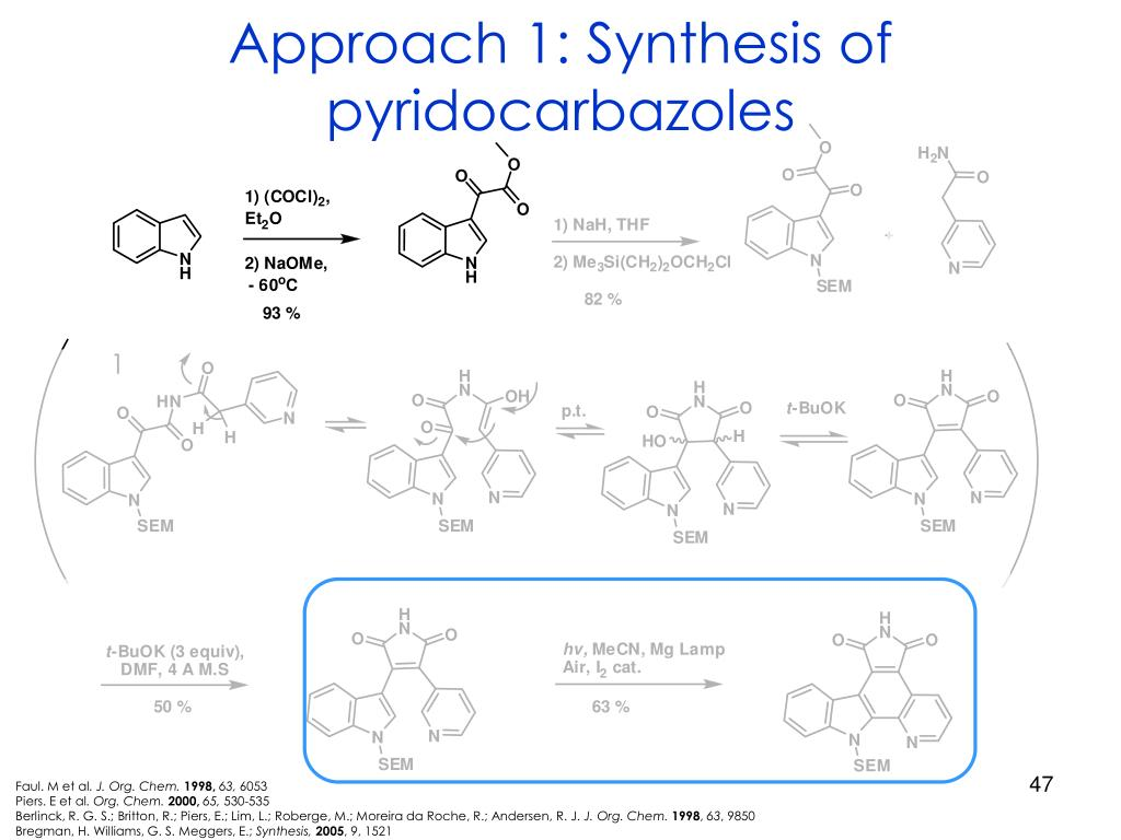 Approach 1: Synthesis of pyridocarbazoles