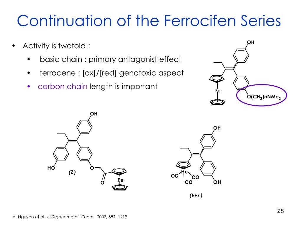 Continuation of the Ferrocifen Series