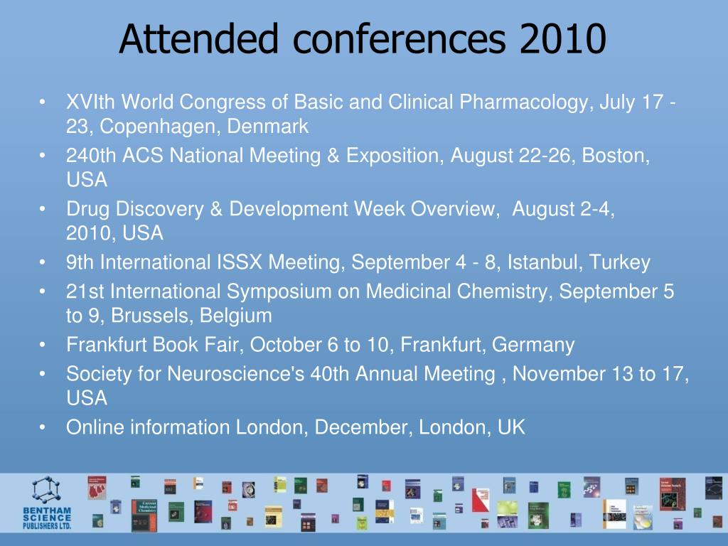 Attended conferences 2010