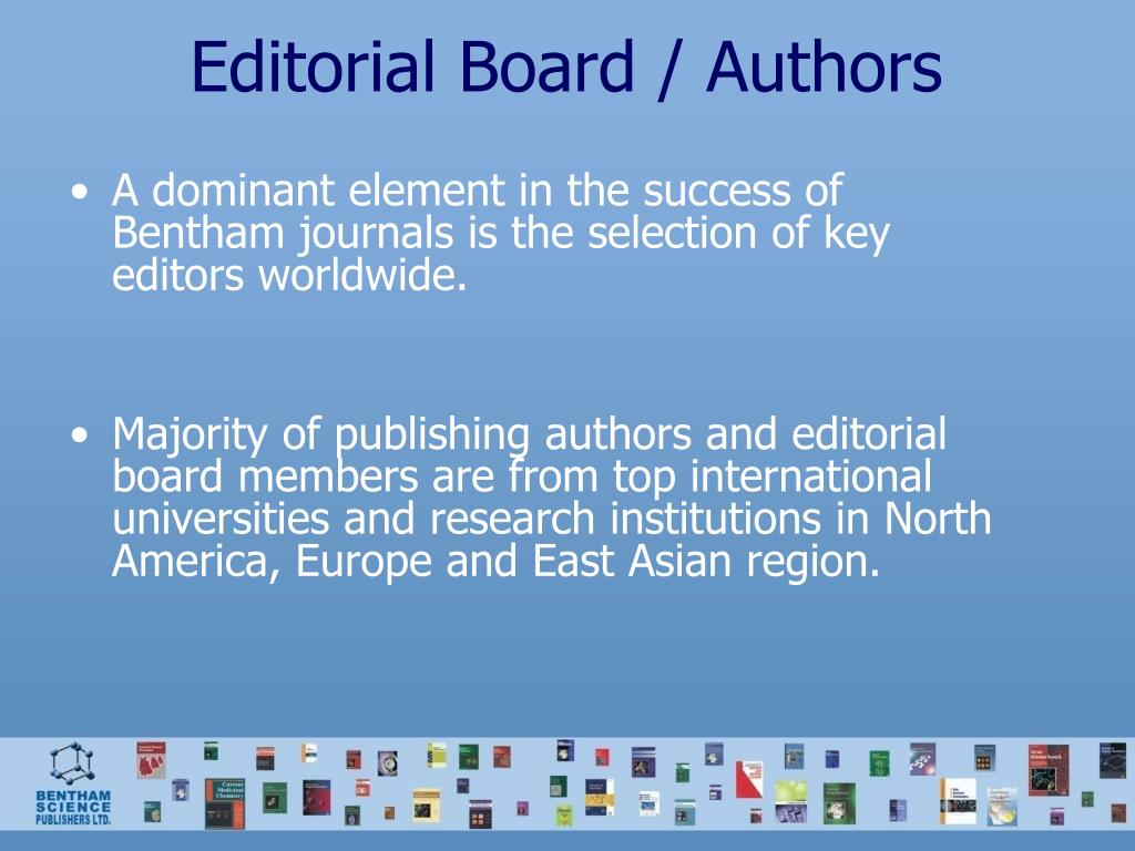 Editorial Board / Authors