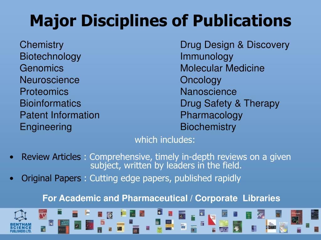 Major Disciplines of Publications