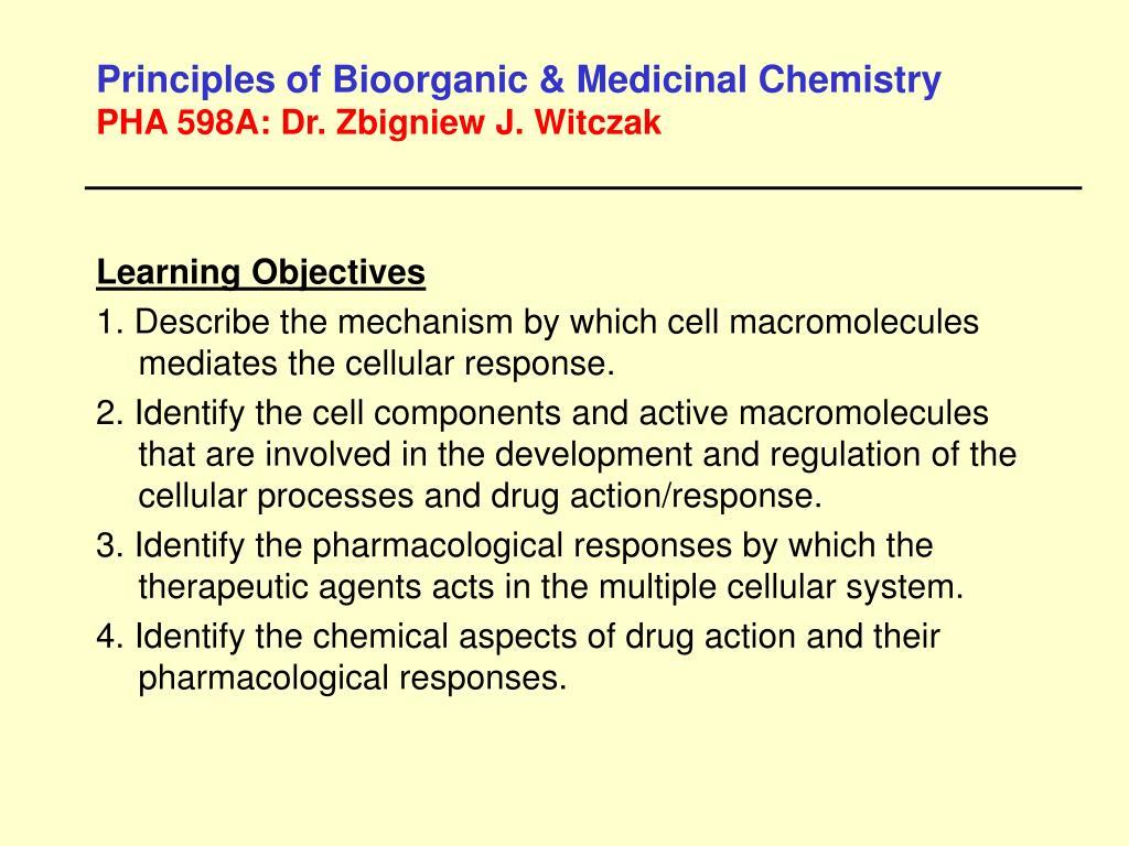 Principles of Bioorganic & Medicinal Chemistry