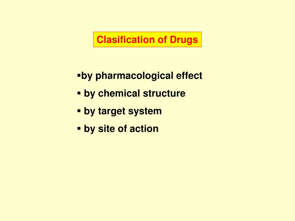Clasification of Drugs
