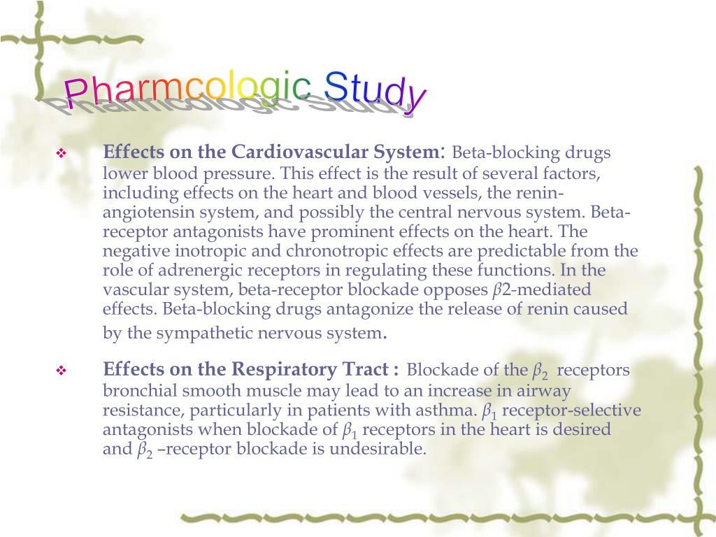 Pharmcologic Study