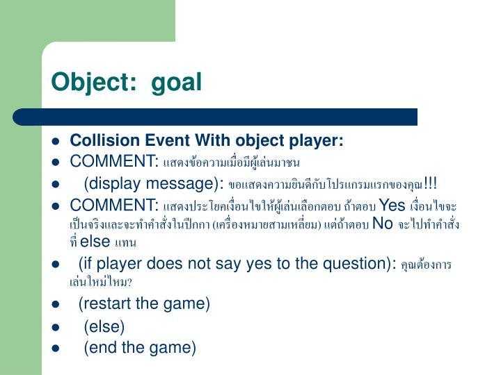 Object:  goal