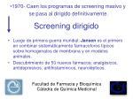 screening dirigido