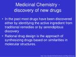 medicinal chemistry discovery of new drugs