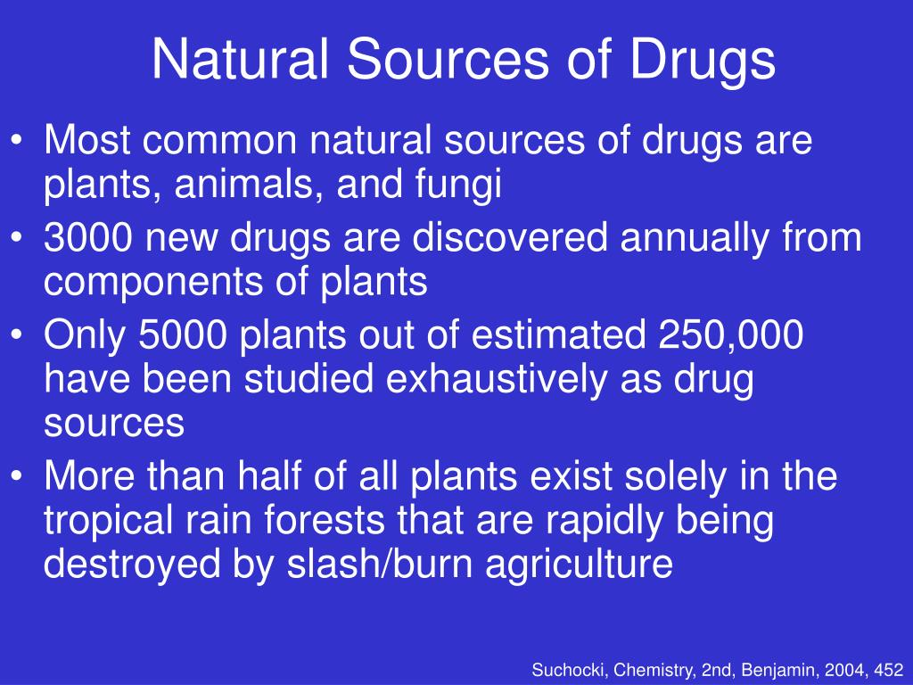 Natural Sources of Drugs