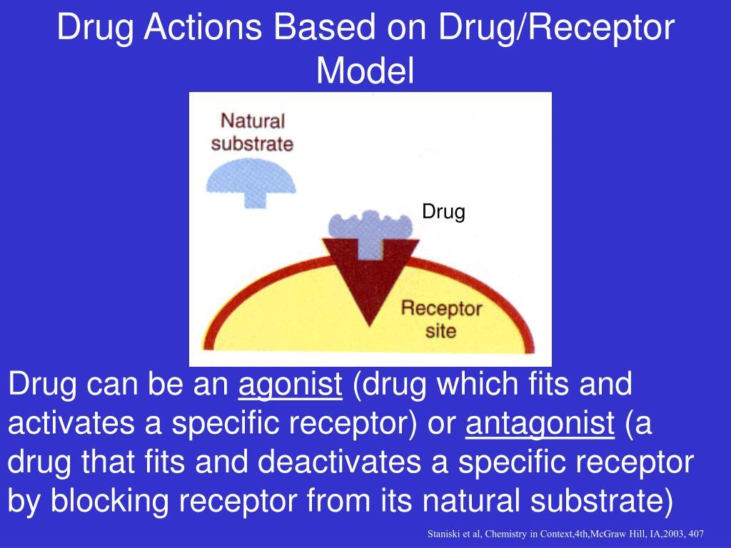 Drug Actions Based on Drug/Receptor Model