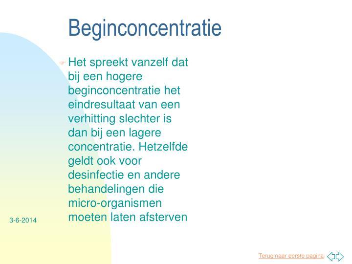 Beginconcentratie