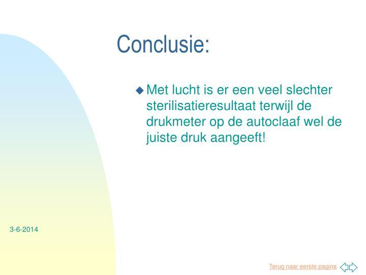 Conclusie: