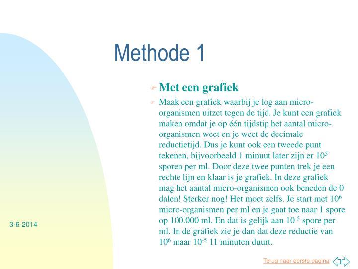 Methode 1