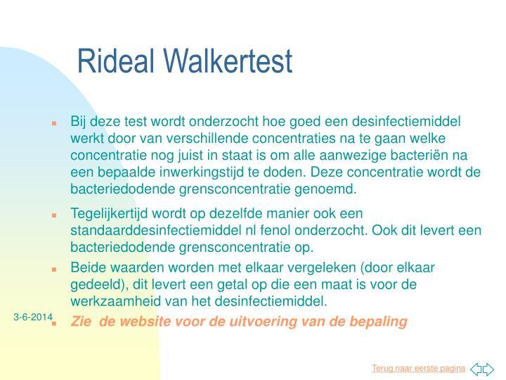 Rideal Walkertest