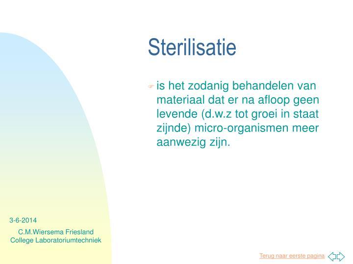 Sterilisatie
