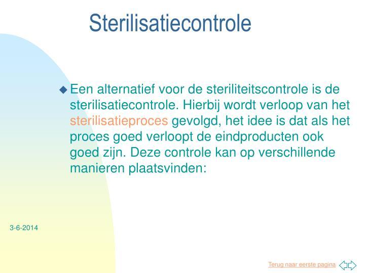 Sterilisatiecontrole