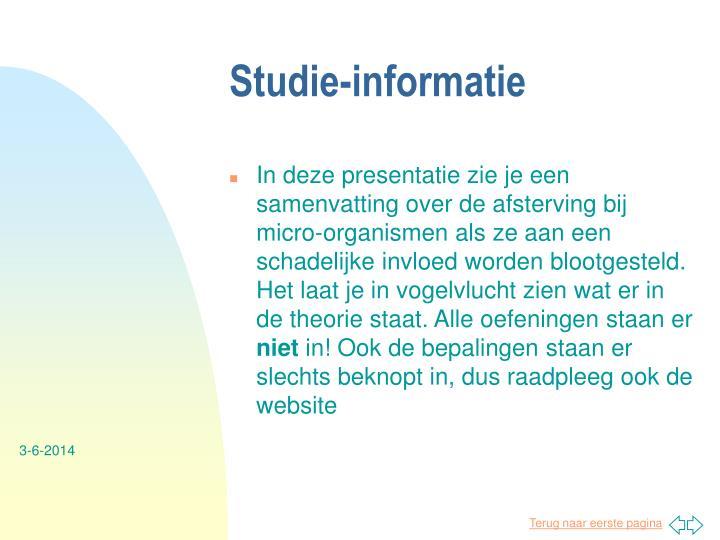 Studie-informatie