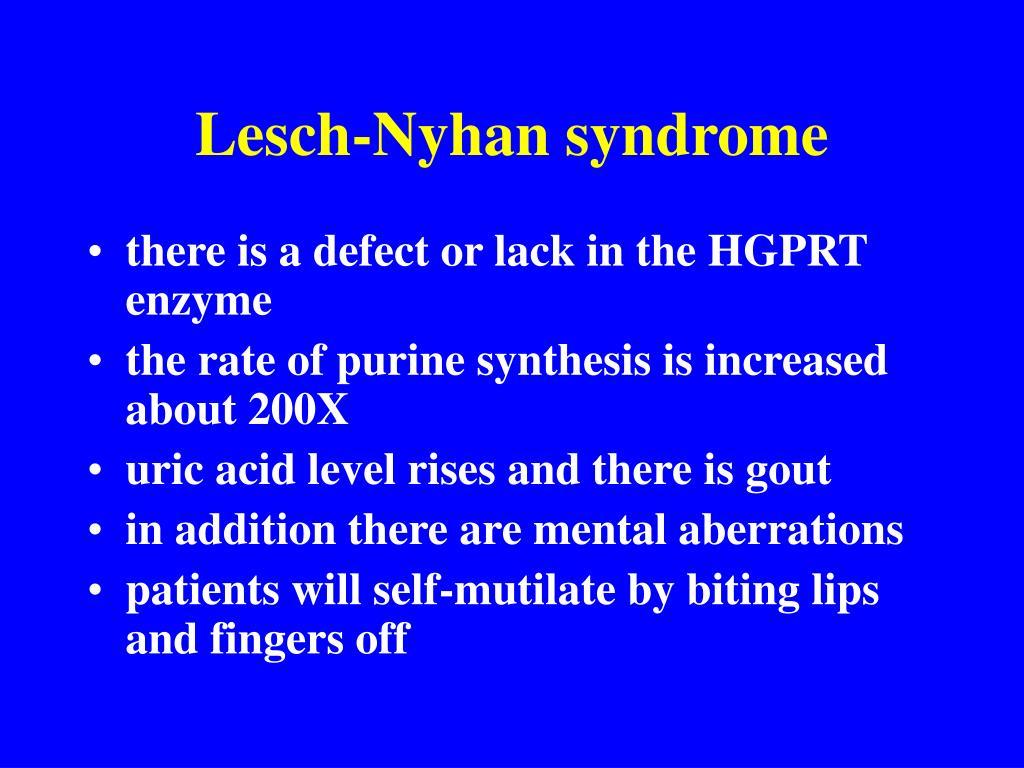 Lesch-Nyhan syndrome