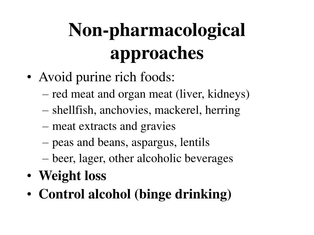 Non-pharmacological approaches