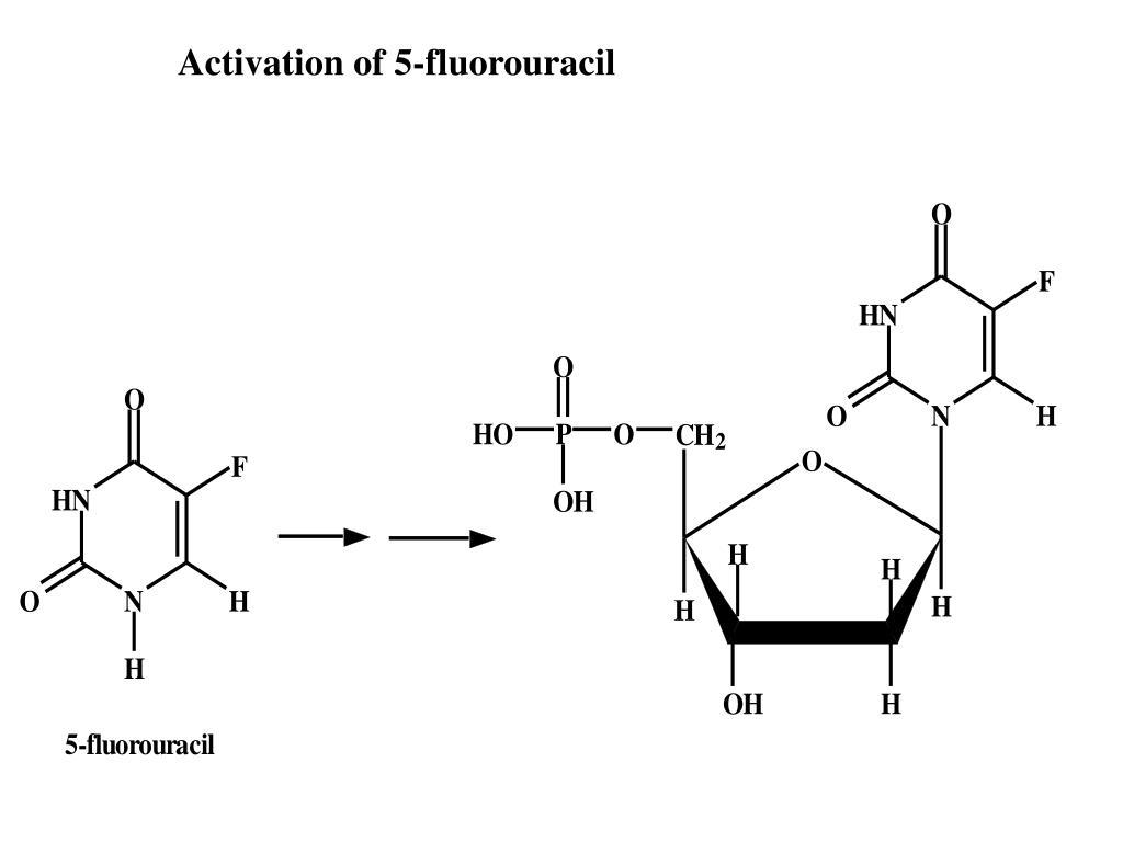 Activation of 5-fluorouracil