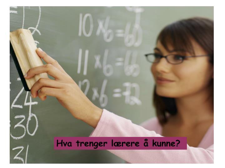 Hva trenger lærere å kunne?