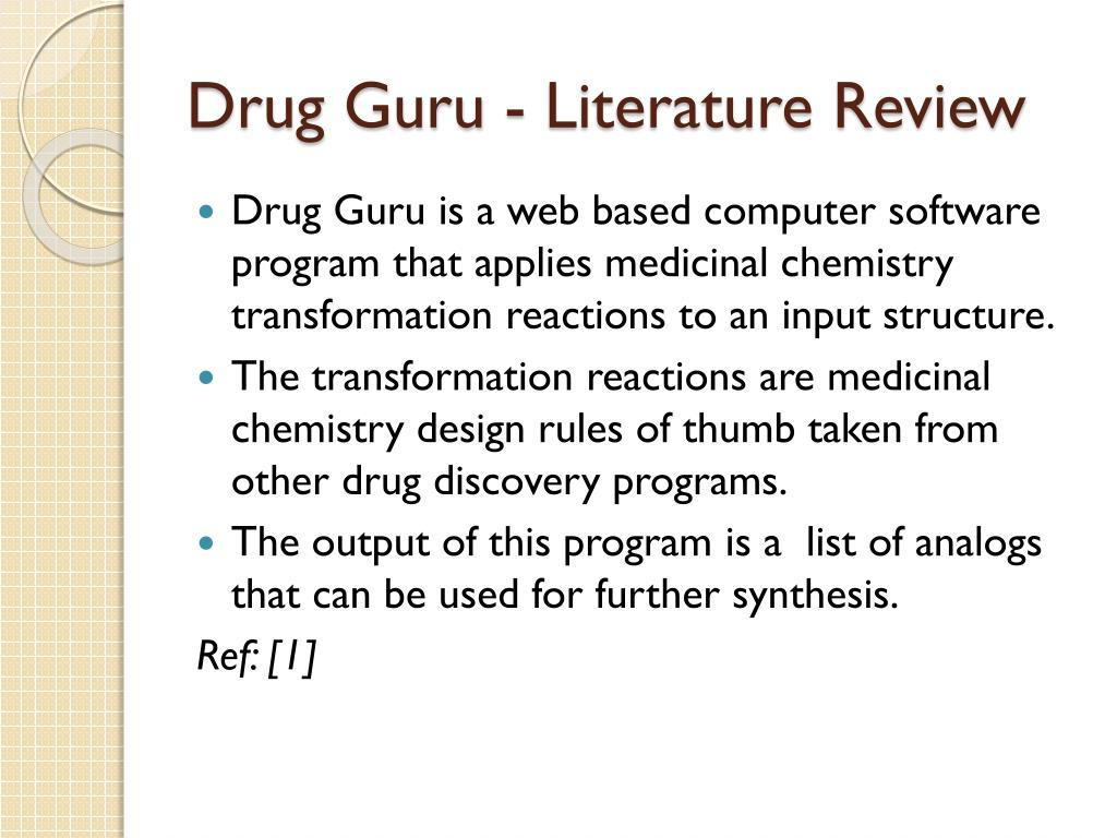 Drug Guru - Literature Review